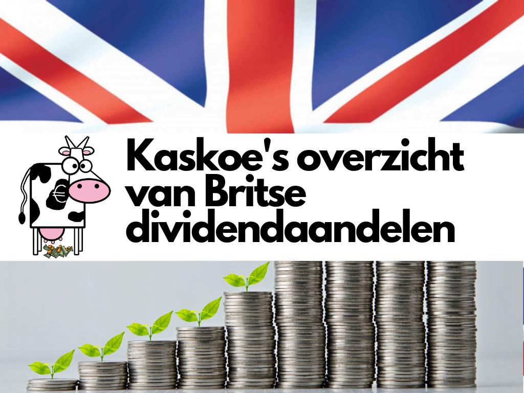 Kaskoe overzicht Britse dividendaandelen