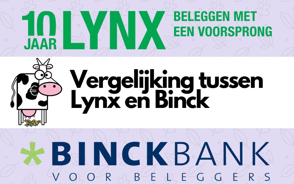 Vergelijking tussen Lynx en Binck