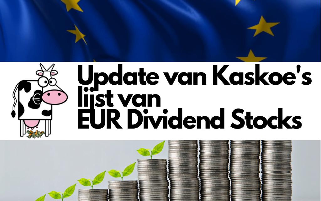 Update van de lijst met Europese dividendaandelen