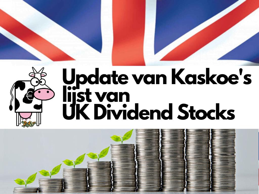 Update lijst met Britse dividendaandelen