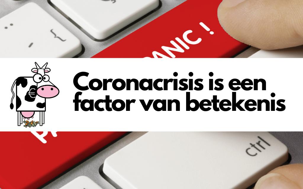 Coronacrisis is een factor van betekenis